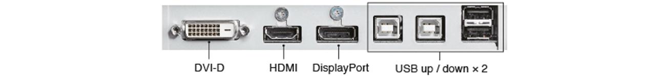 Eizo CG277-BK Bogactwo złączy sygnałowych