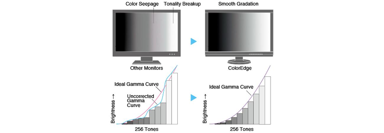 Eizo CG277-BK Indywidualna regulacja krzywej gamma w monitorach