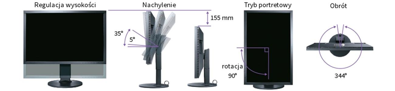 Eizo CS2420-BK Ergonomiczna stopka