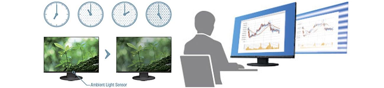 Eizo EV2750-BK Automatyczna regulacja jasności, Obraz bez migotania