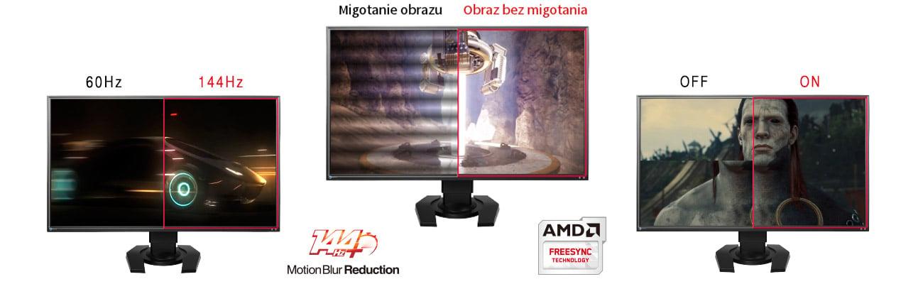 Eizo Foris FS2735-BK 144 Hz i obsługa AMD FreeSync