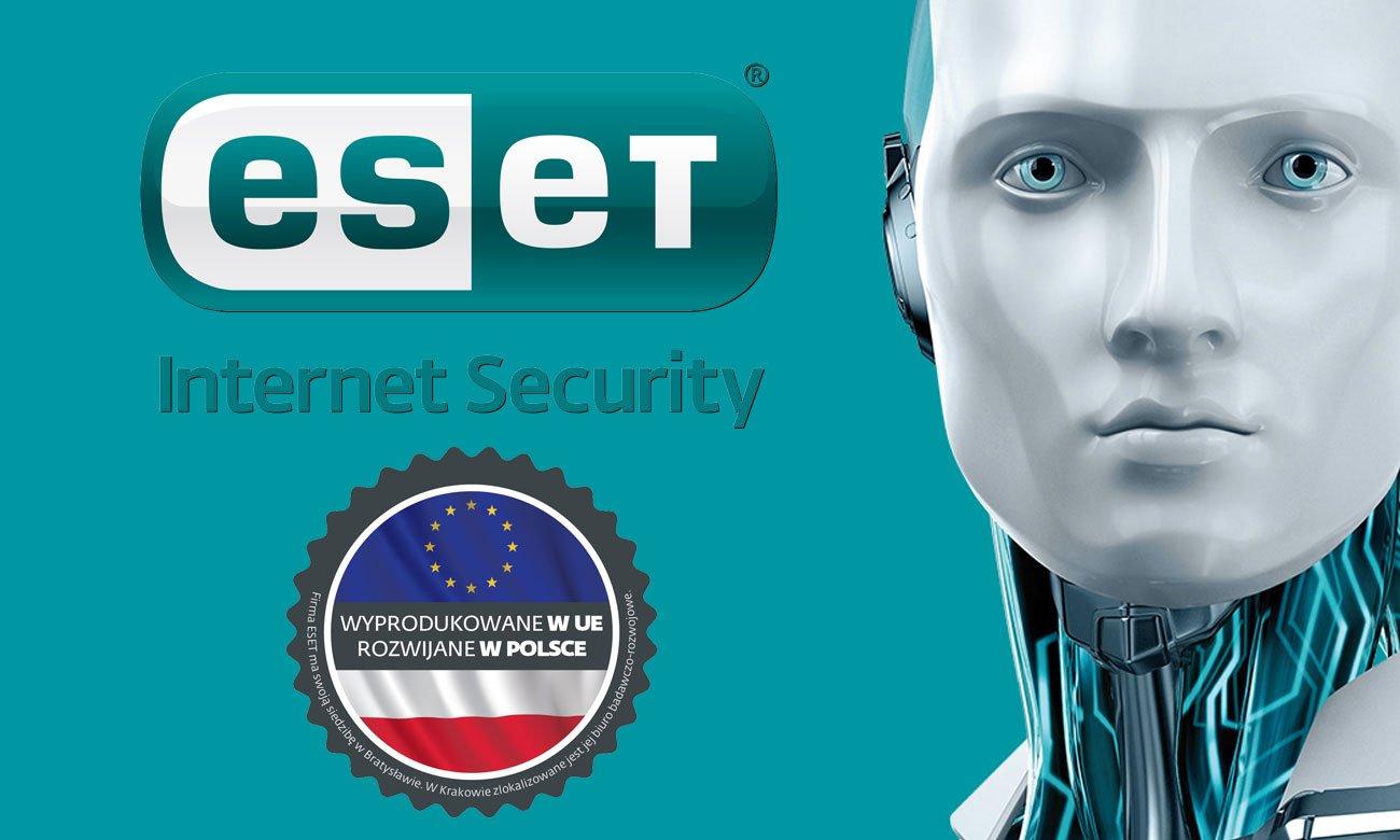 ESET Internet Security 2018 Całkowita ochrona bez wpływu na wydajność