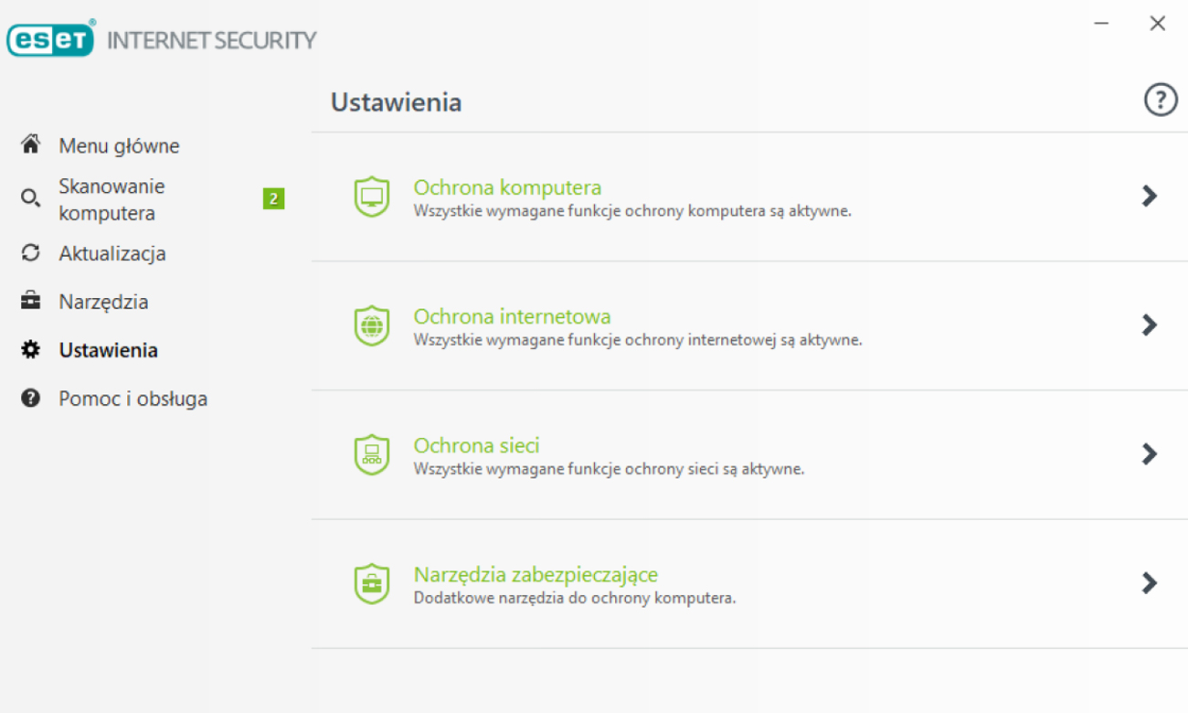 ESET Internet Security 2018 Intuicyjna obsługa, Przyjazny interfejs użytkownika