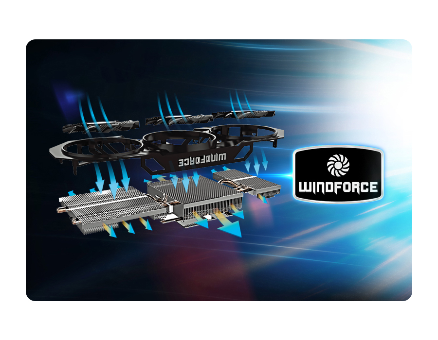 Gigabyte GeForce GTX970 4096MB 256bit WindForce III OC