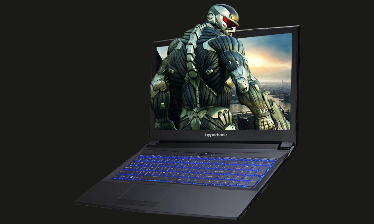 Hyperbook N85 podświetlana klawiatura RGB dla graczy