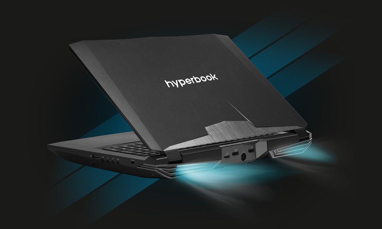 Hyperbook N85 Niezwykle wydajny układ chłodzenia