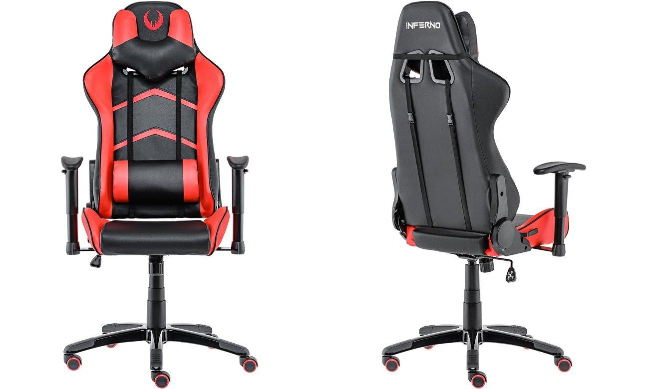 Inferno Titan Gaming Chair czarno-czerwony