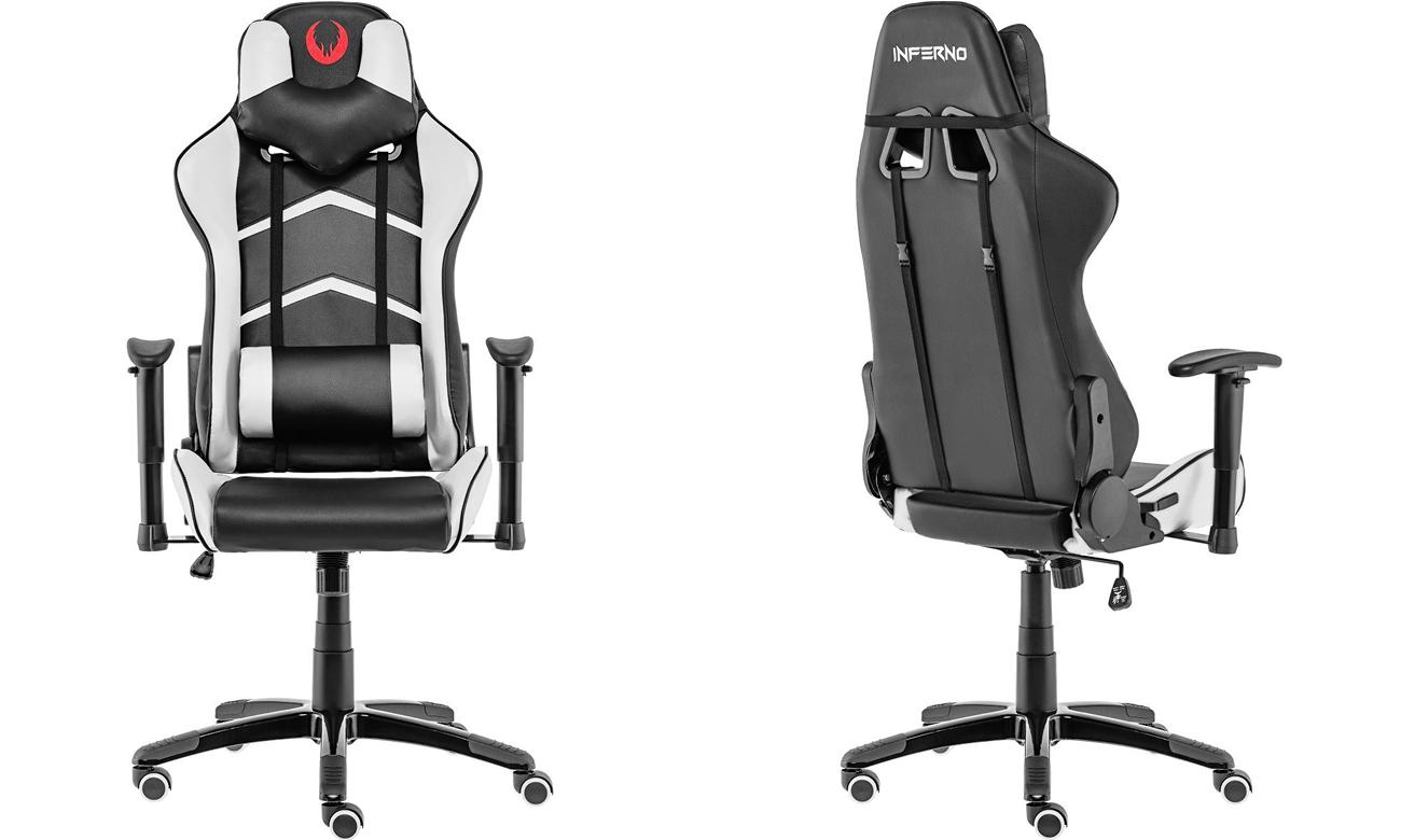 Inferno Titan Gaming Chair czarno-biały