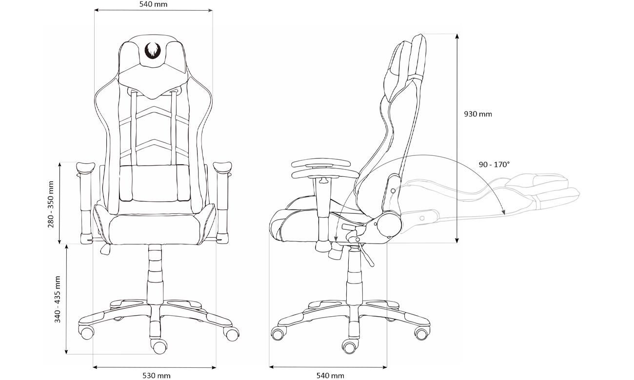 Mechanizm tilt w Inferno Titan Gaming Chair