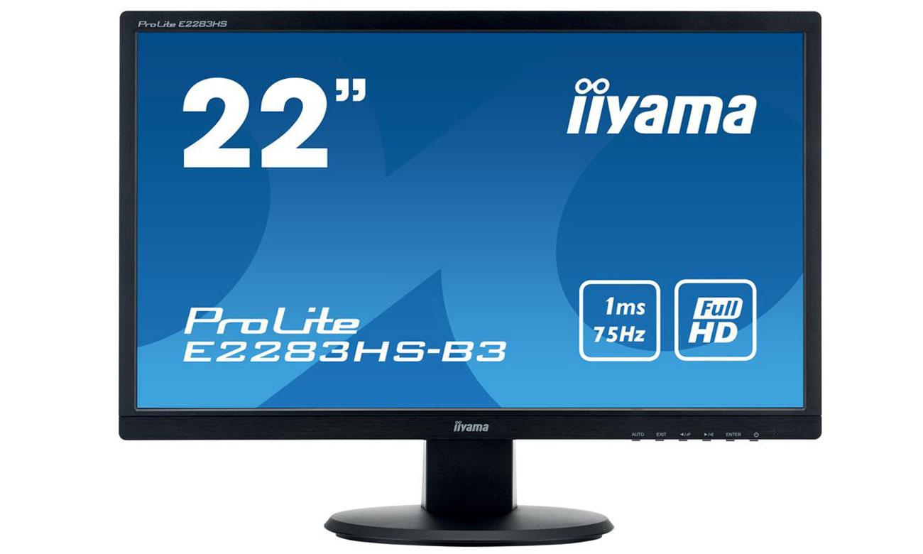IIYAMA E2283HS-B3 Komfort użytkowania i doskonała jakość obrazu