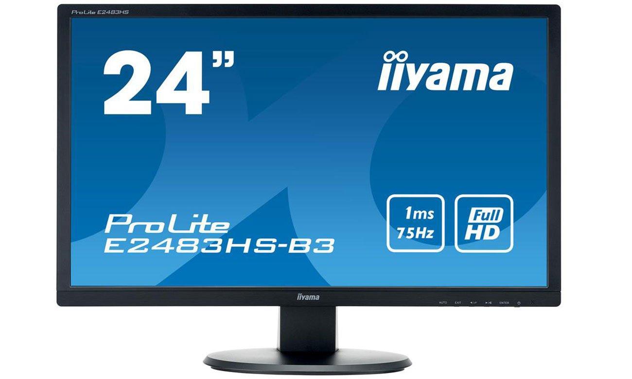 IIYAMA E2483HS-B3 Komfort użytkowania i doskonała jakość obrazu