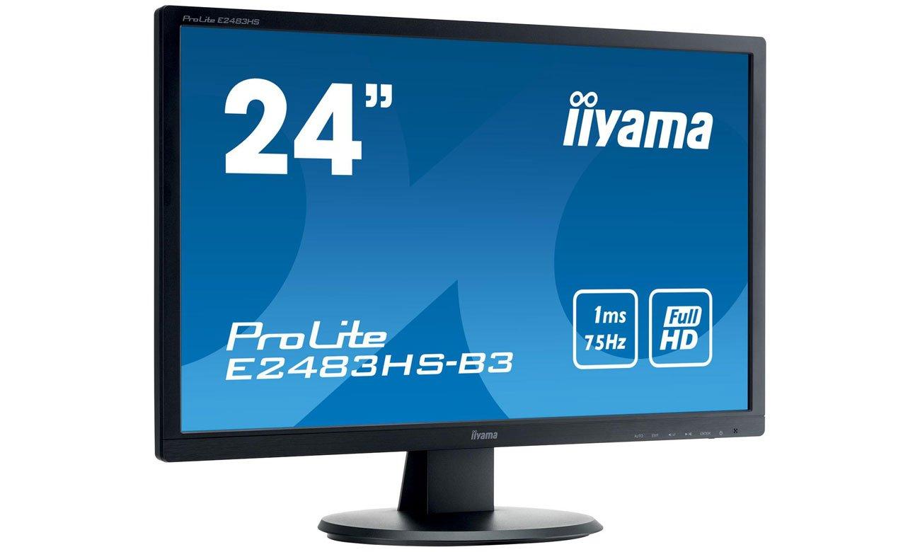 IIYAMA E2483HS-B3 Monitor z technologią Flicker-free i redukcją niebieskiego światła