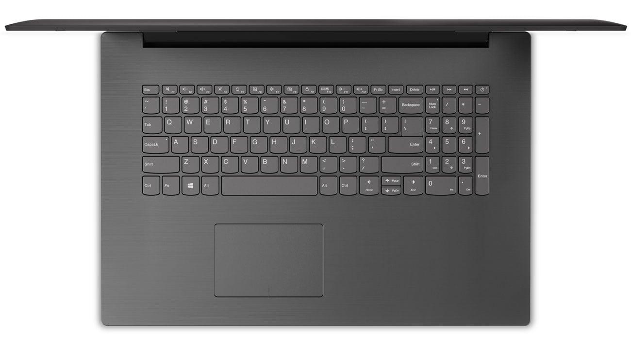 Lenovo Ideapad 320-17 Nowy touchpad zapewnia szybsze reagowanie