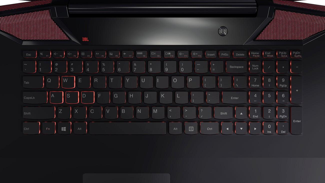 Podświetlana klawiatura AccuType w Laptop Lenovo Y700