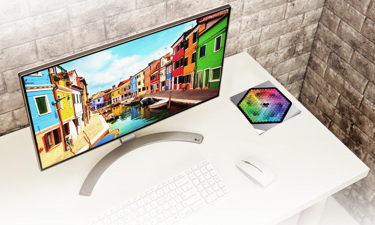 LG 24MP88HV-S Zgodność z sRGB ponad 99%, Doskonałe kolory