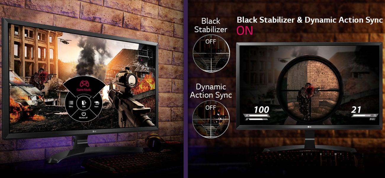 LG 27UD59-W 4K Nowoczesne funkcje dla graczy
