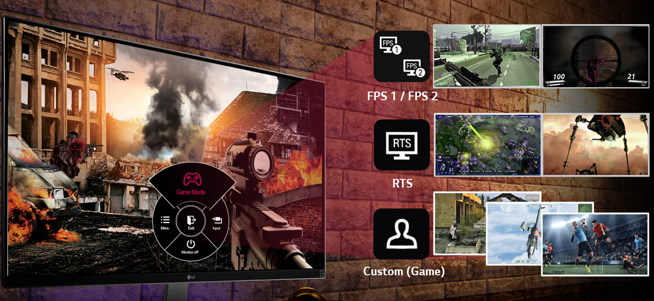 LG 27UD88-W Game Mode