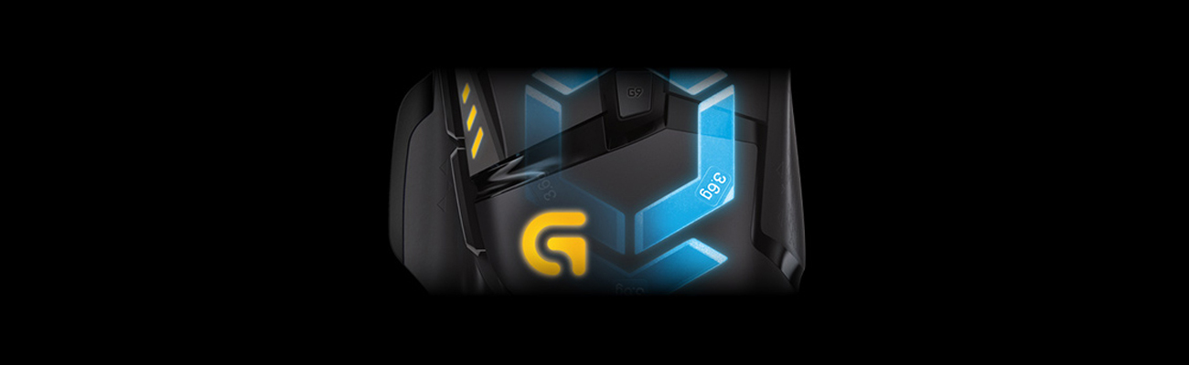 Logitech G502 Proteus Spectrum Gaming Mouse RGB kontrola wagi i rozkład masy