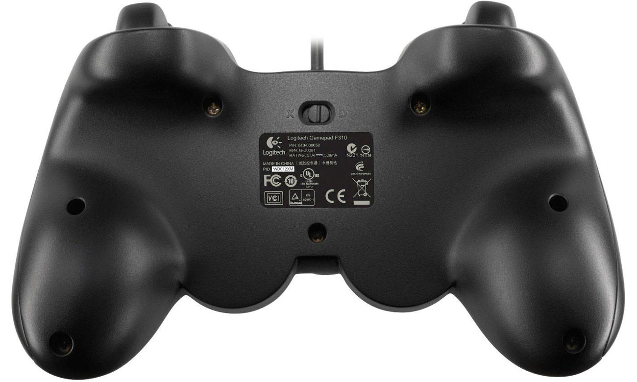 Logitech F310 konsola D-pad z 4 przełącznikam