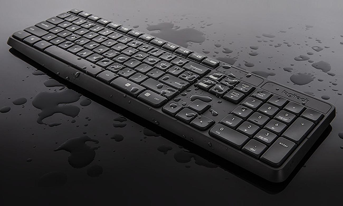 Zestaw klawiatura i mysz Logitech MK235 Niewiarygodna wytrzymałość