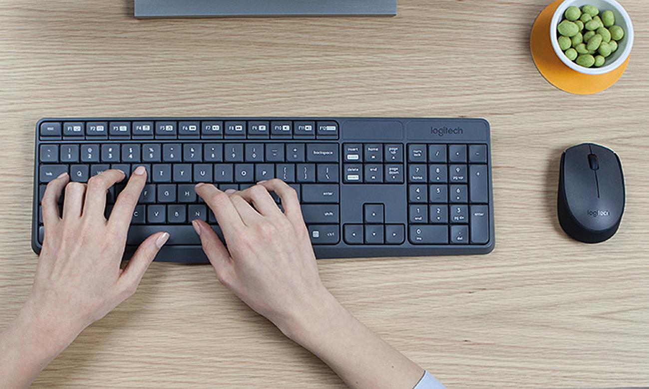 Zestaw klawiatura i mysz Logitech MK235 łączność bezprzewodowa 10m