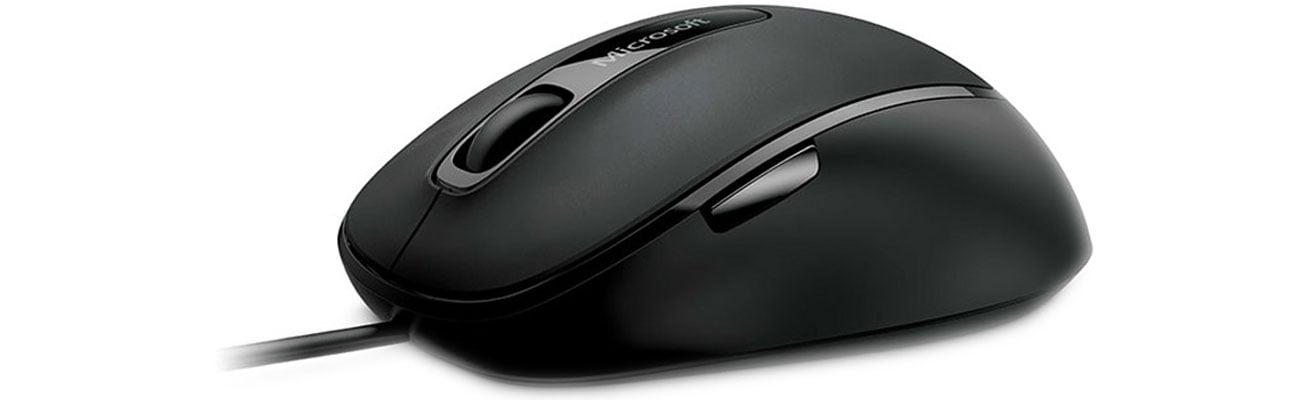 Microsoft Comfort Mouse 4500 Pięć przycisków i gumowe boki