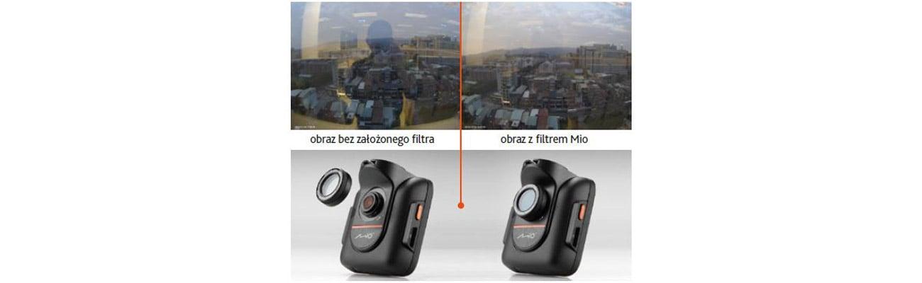 Wideorejestrator Mio Filtr polaryzacyjny MiVue Redukcja odblasków światła