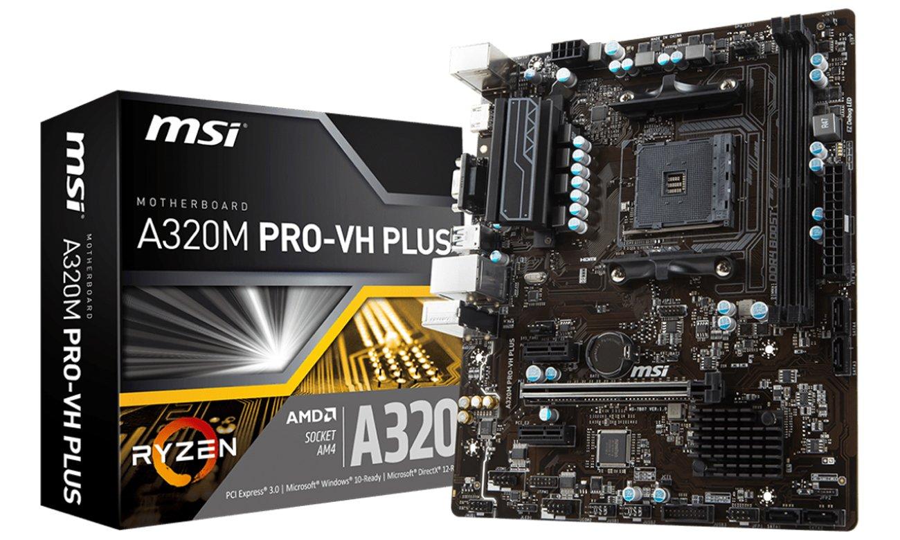 MSI A320M PRO-VH PLUS  obsługa AMD RYZEN