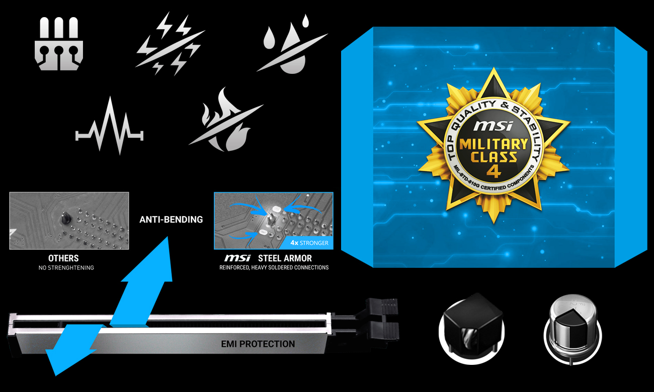 MSI A320M PRO-VHL Najlepsza ochrona płyty głównej