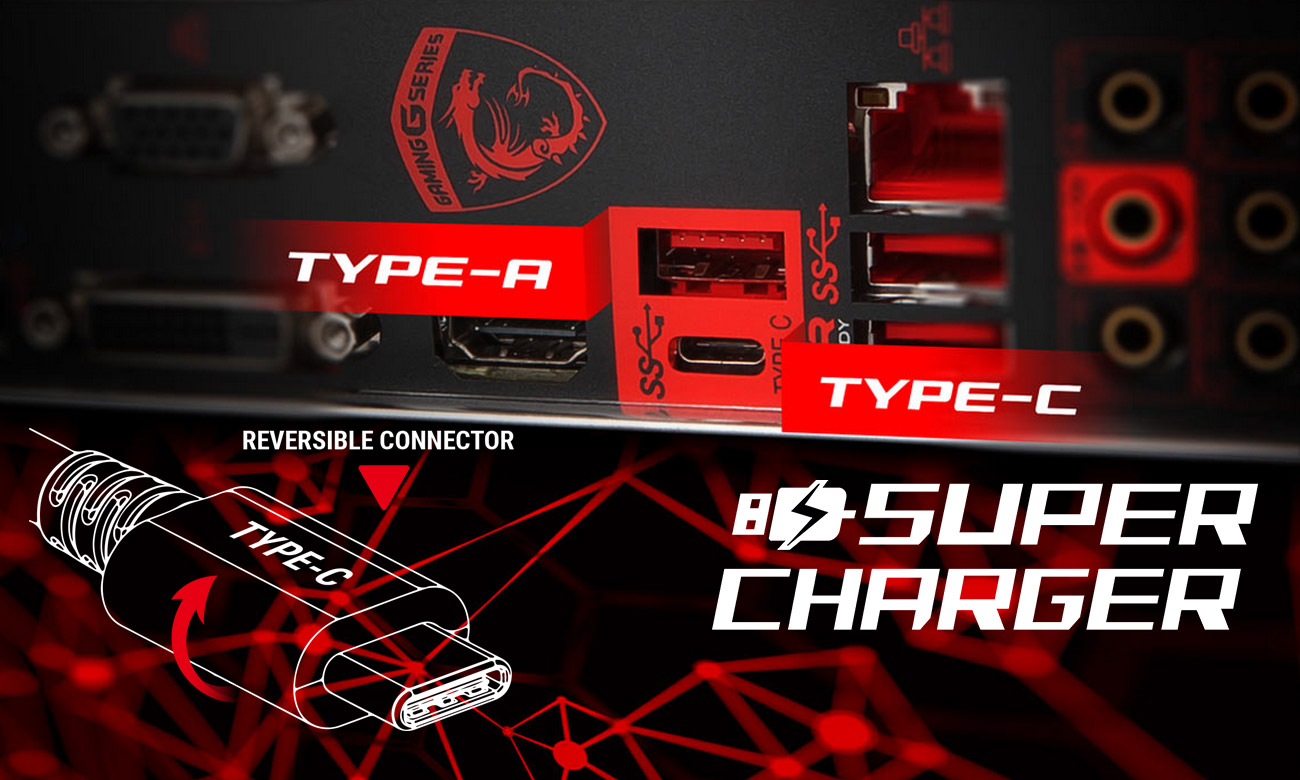 MSI B350 GAMING PLUS USB Type-C