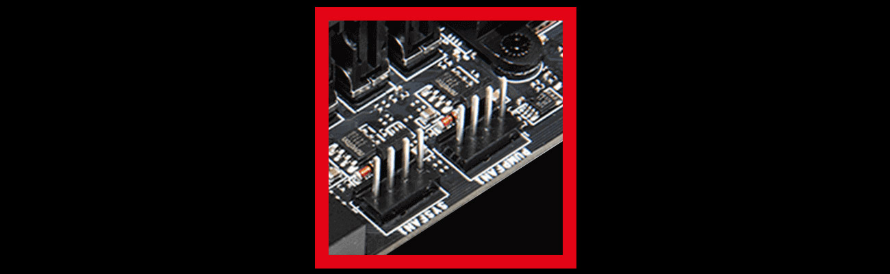 MSI B350 GAMING PLUS Złącze dla pompy wodnej