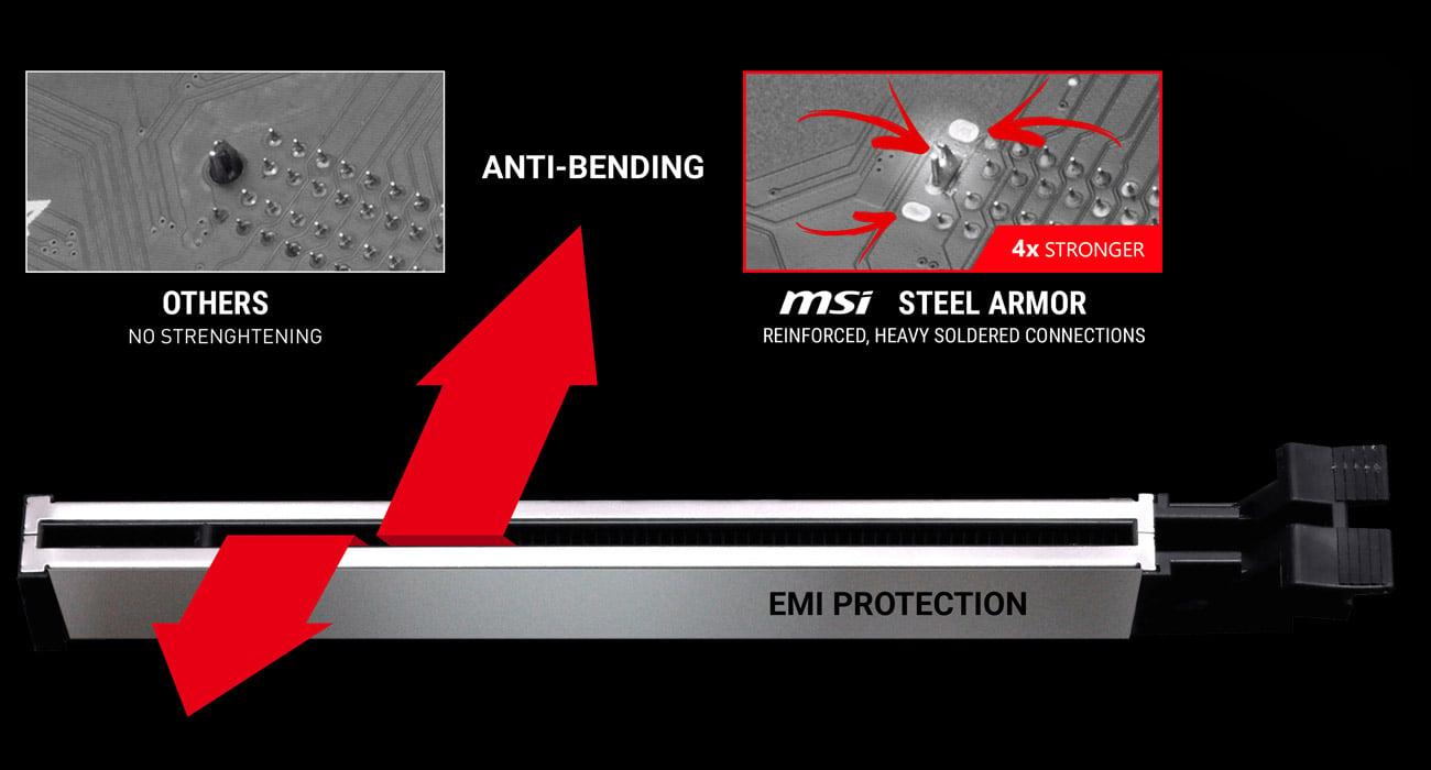 MSI B350M BAZOOKA MSI Steel Armor