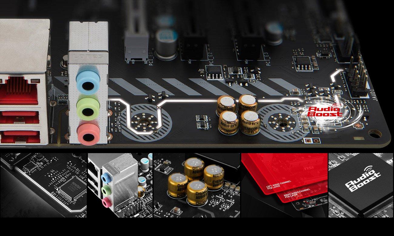 MSI B350M BAZOOKA Brzmienie Audio Boost
