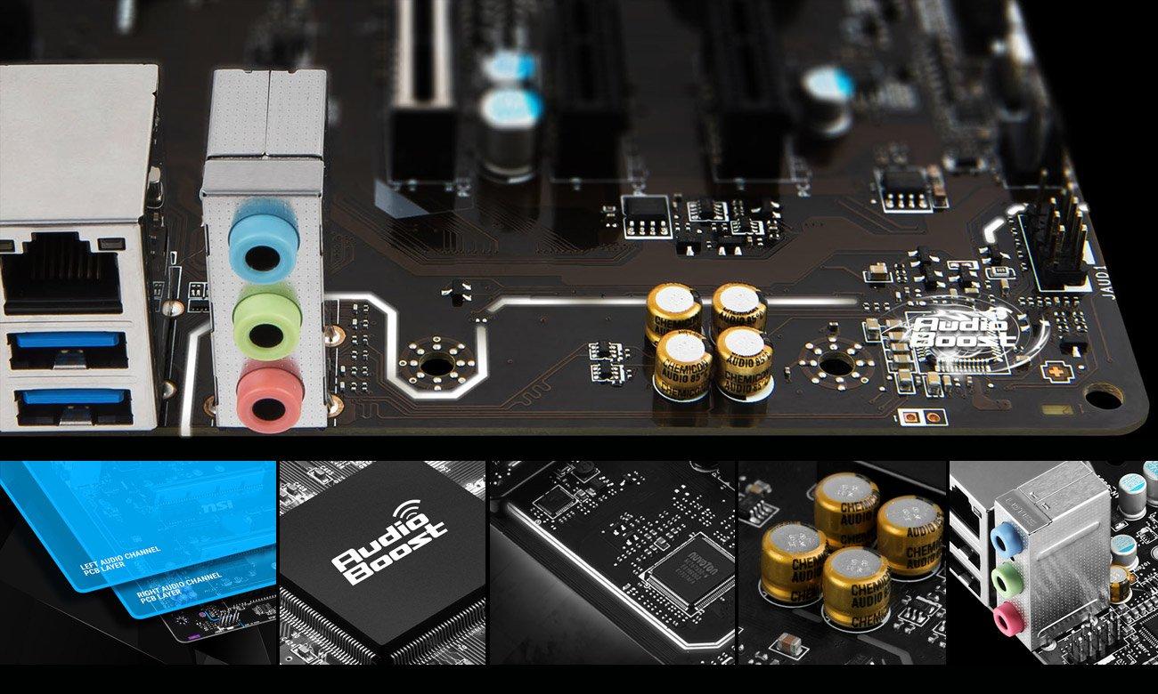 MSI B350M PRO-VDH System Audio Boost