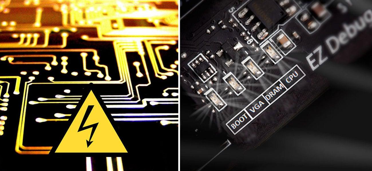 MSI B350M PRO-VDH EZ Debug LED
