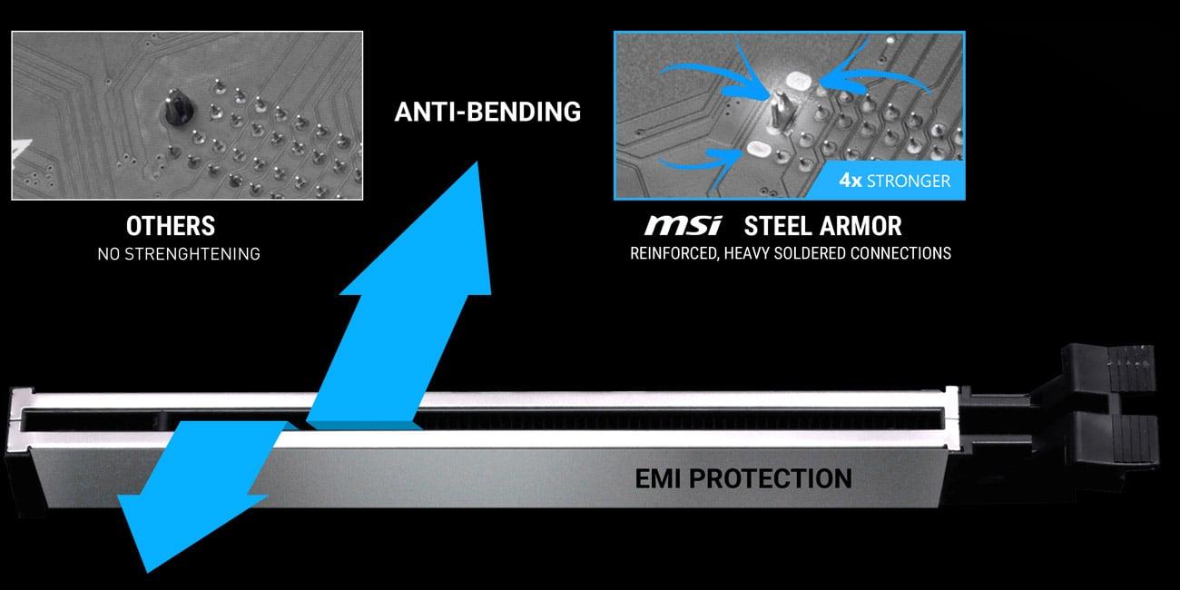 MSI B350M PRO-VDH PCI-E Steel Armor