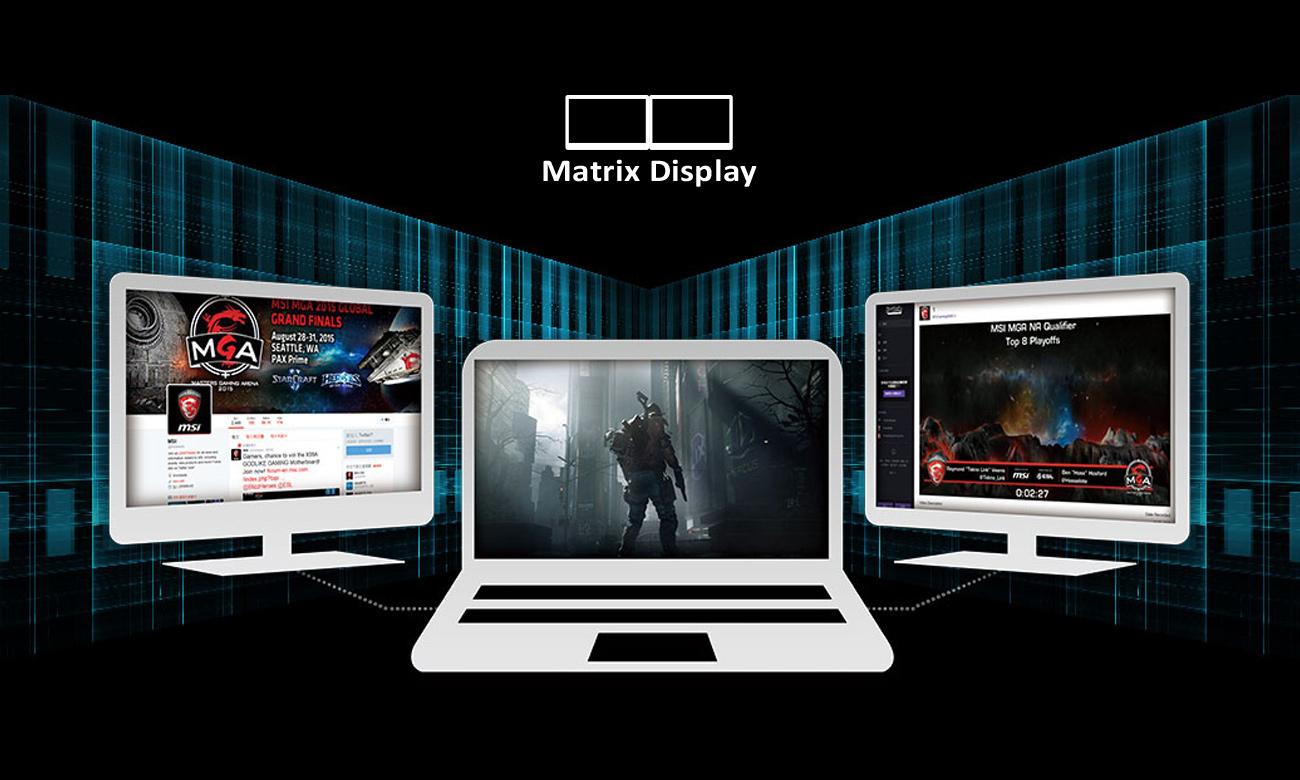 MSI GE62 6QF Matrix Display