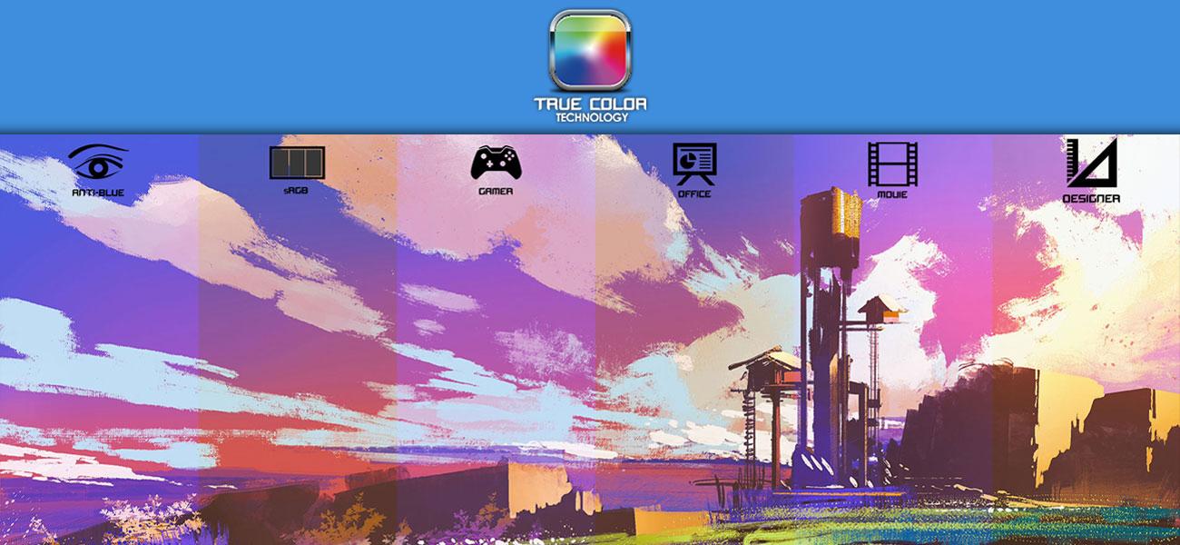 MSI Apache Pro |  GE62MVR 7RG 100 procent SRGB, True Color