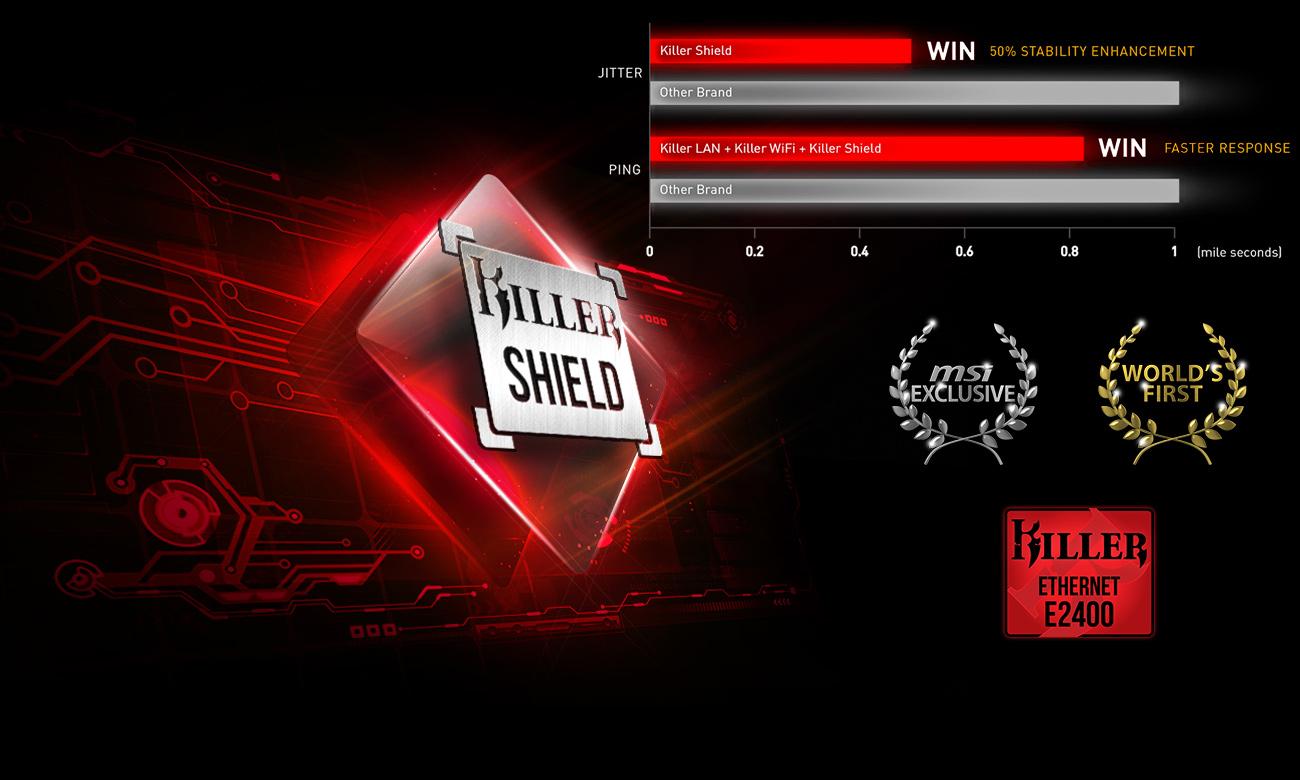 Killer™ GAMING LAN oraz Killer Shield