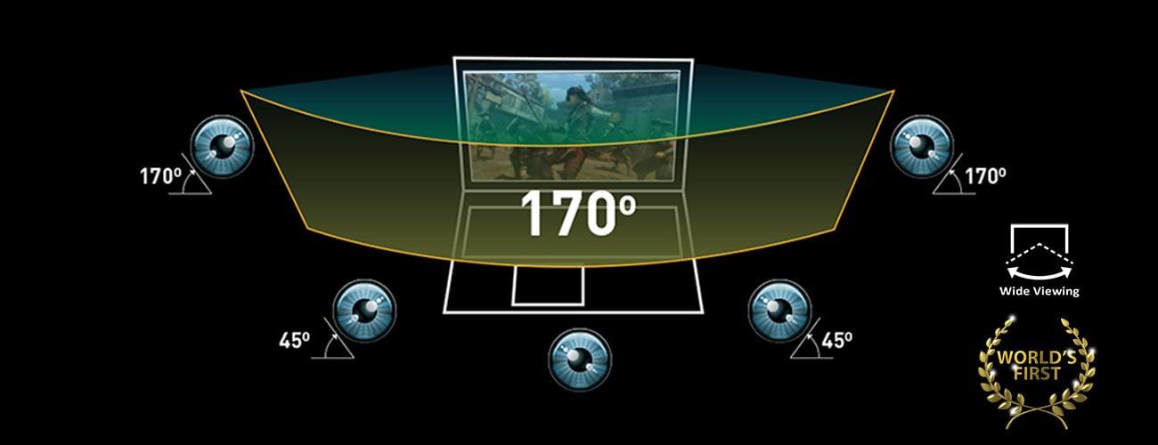 MSI GL62 6QF Wide-view angle display