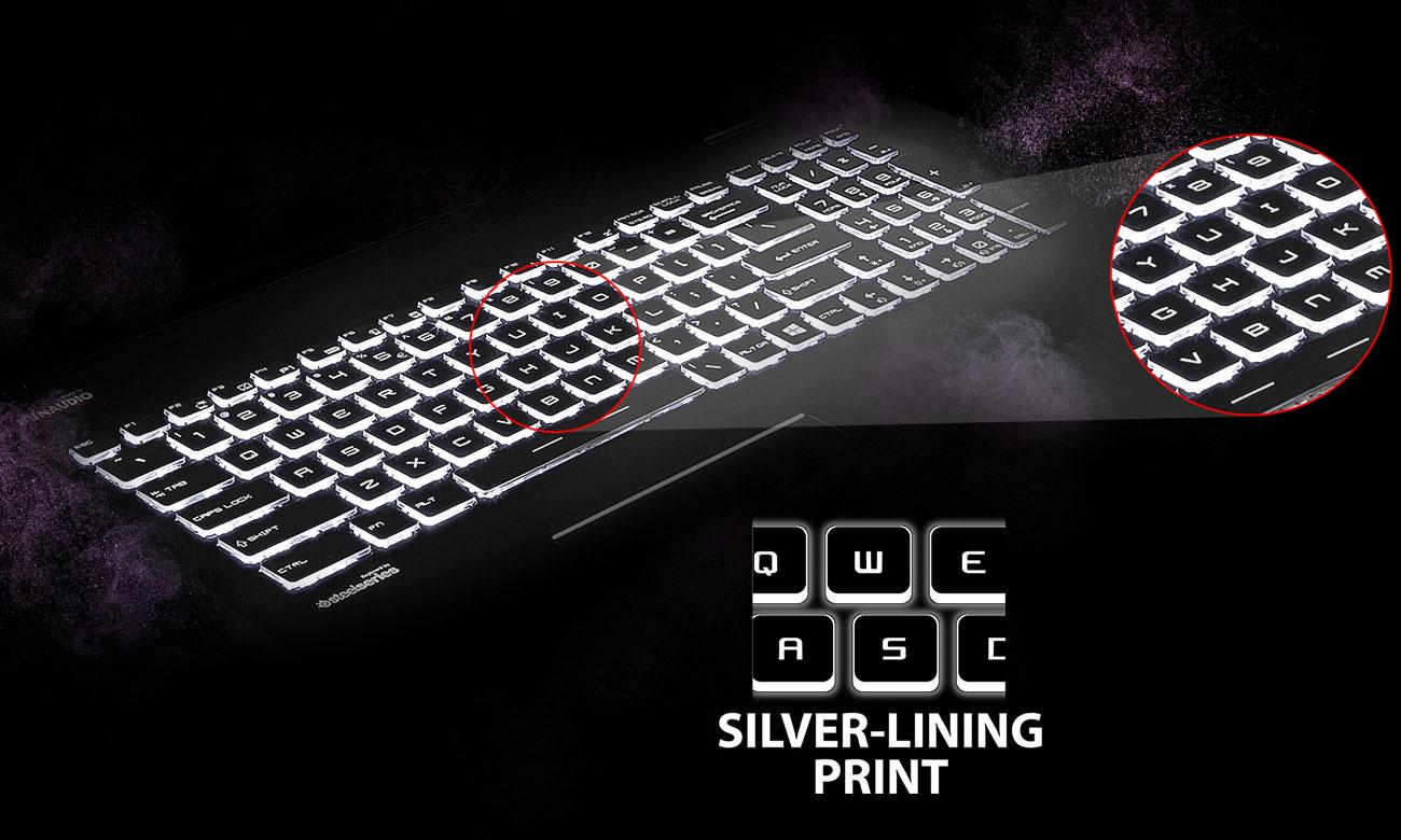 MSI GP72 7RD steelseries, Silver Lining Print