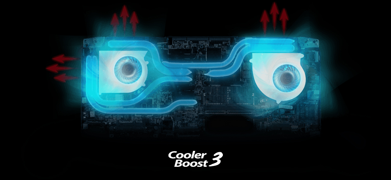 MSI GS43VR 7RE Cooler Boost 3