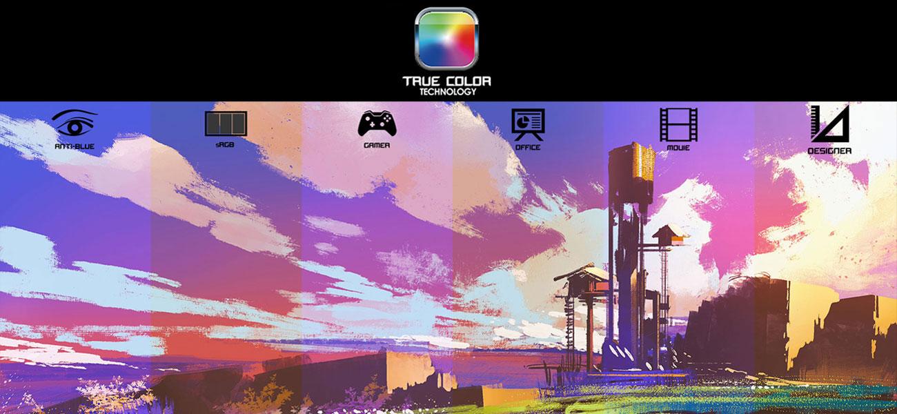 MSI Stealth GS63 7RD Wyświetlacz IPS z technologią True Color