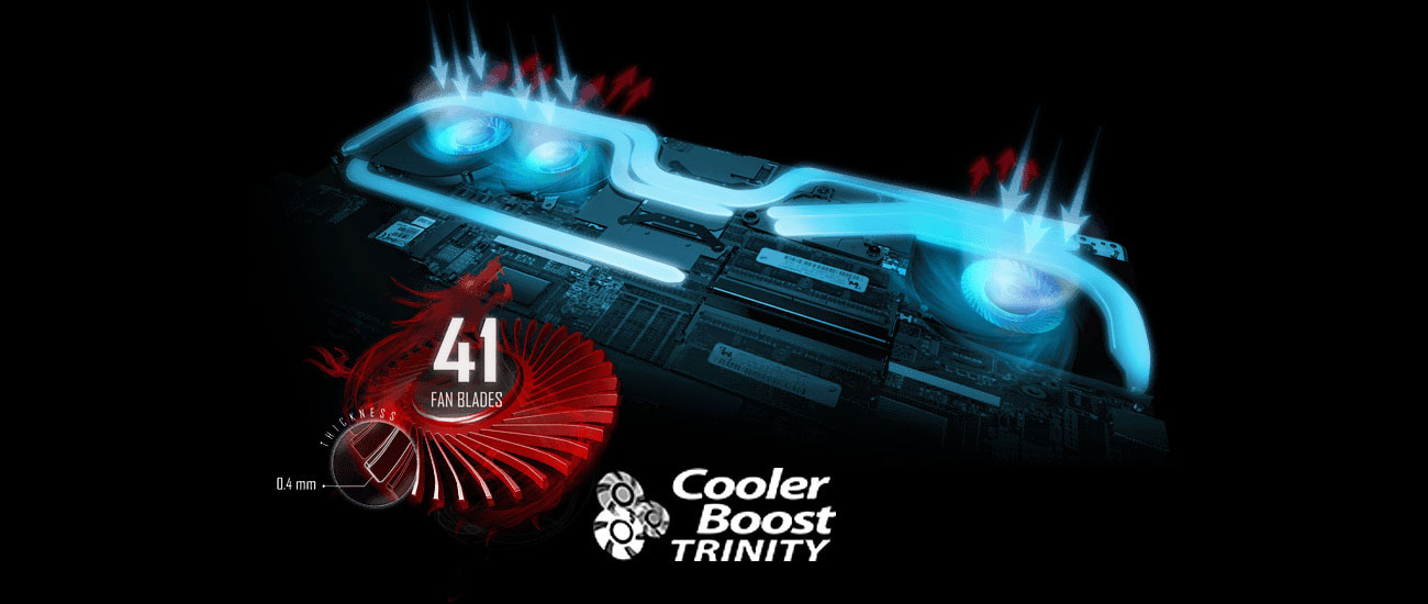 MSI Stealth GS63 7RD Cooler Boost Trinity