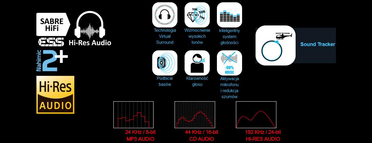 MSI Stealth GS63 7RD szczegółowy dźwięk wirtualny