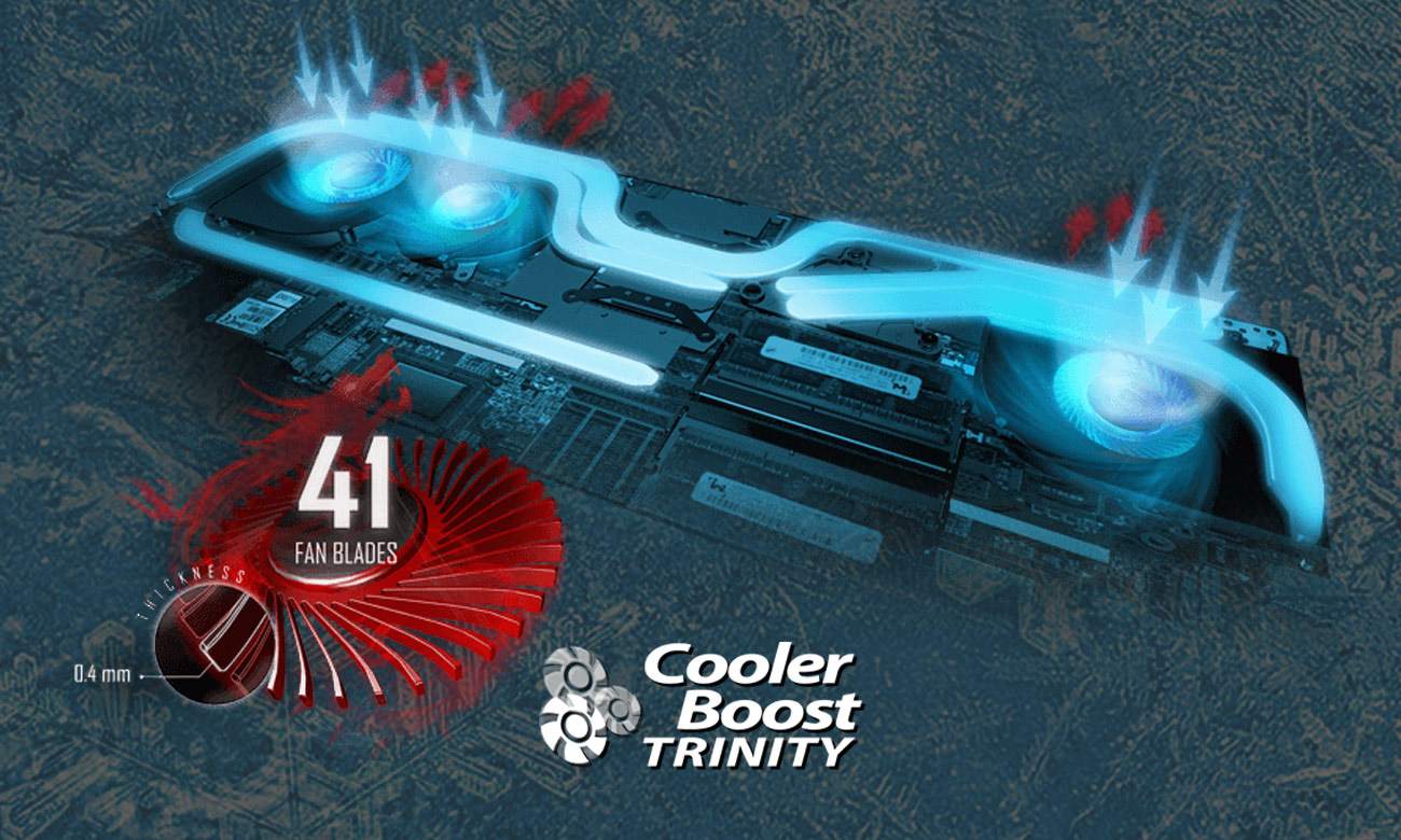 MSI GS73VR 7RF Cooler Boost Trinity