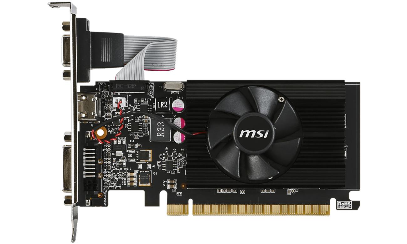 MSI GeForce GT710 Low Profile Kompaktowy Rozmiar