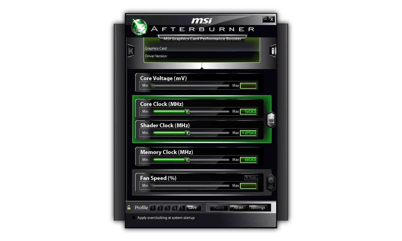 MSI GeForce GT710 Low Profile Afterburner
