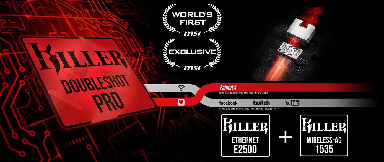 MSI GT62VR 7RD Killer E2400 z Killer Shield