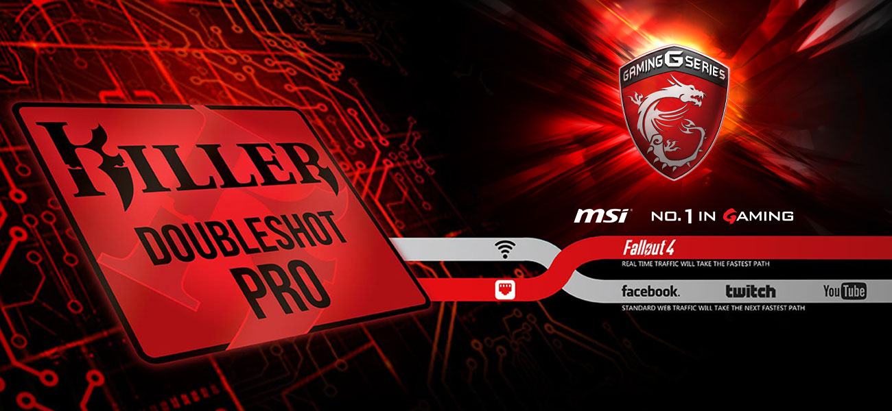 MSI Titan GT73EVR 7RD Killer DoubleShot Pro, Killer Shield